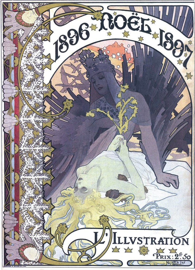 Mucha L Illustration Magazine Christmas 1896 Dvdbash DVDbash