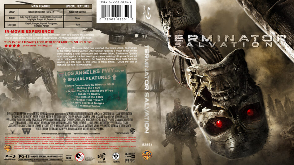 Terminator Salvation 2009 R1 Custom Blu Ray Cover