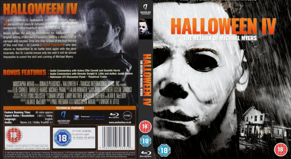 The return of michael myers (1988) region code 1 (usa) on a dark halloween night ten years ago, michael myers brought fear back to his home. Halloween 4 The Return Of Michael Myers 1998 R2 Uk Blu Ray Cover And Label Dvdcover Com