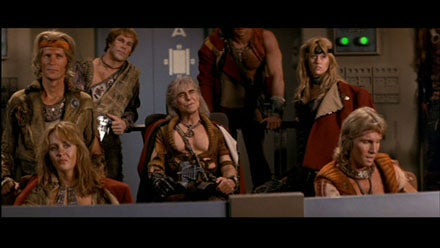 Khan's followers as they appeared in 1982. They're uniformly pale-skinned and blond.