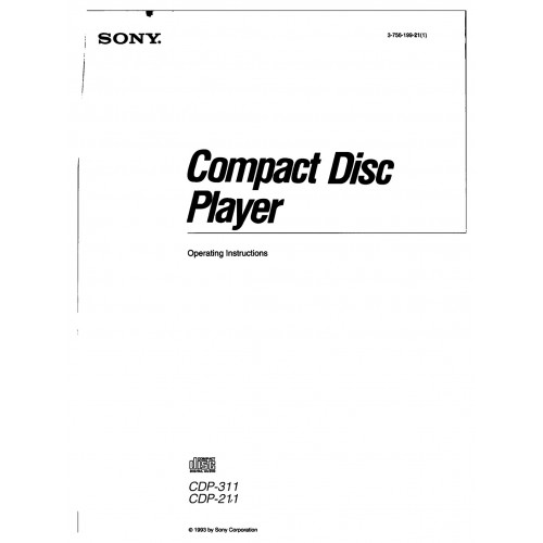 Sony CDP-211 Compact Disc Player