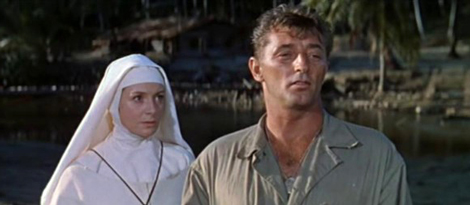 Image result for deborah kerr and robert mitchum paddling the rubber raft in heaven knows mr allison