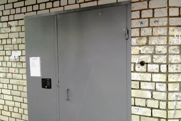Двери с домофоном