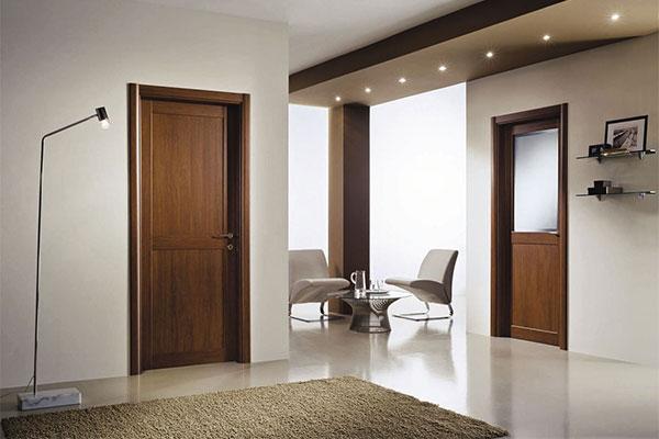 Шпонированные двери в интерьере