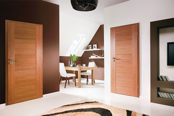 Двери с натуральным шпоном