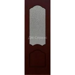 Межкомнатная шпонированная дверь «Каролина» (со стеклом)