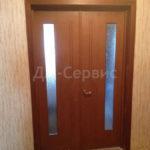 двойные двери с остеклением