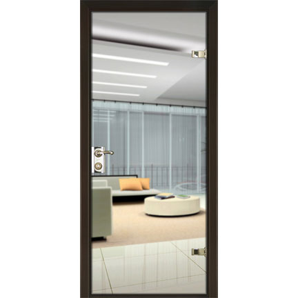 Межкомнатная зеркальная дверь (со стеклом триплекс)