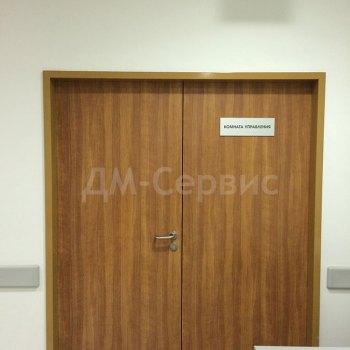 Двухстворчатая дверь облицованная пластиком cpl