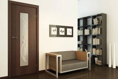 Дверь ламинированная со стеклом