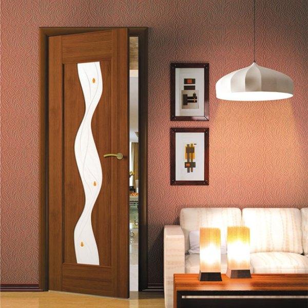 Остекленная дверь с пленкой ПВХ