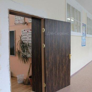 Дверь облицованная пластиком в школьный кабинет