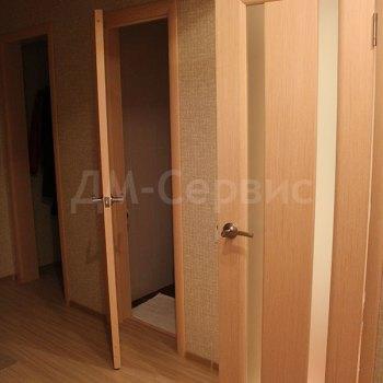 Шпонированные двери с матовым стеклом для ванной и туалета