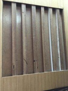 дверь с наполнением из бруса сосны