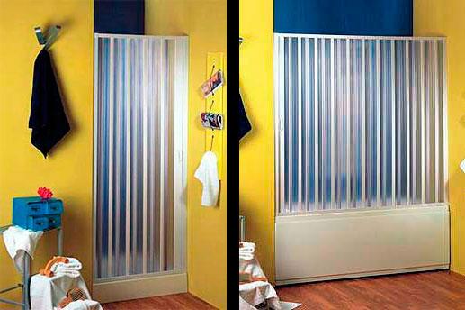 Складные шторки для ванной и душа