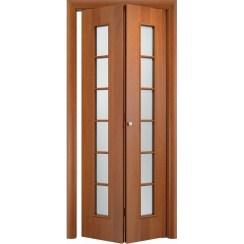Складная дверь «книжка» C-12 ДО (со стеклом)