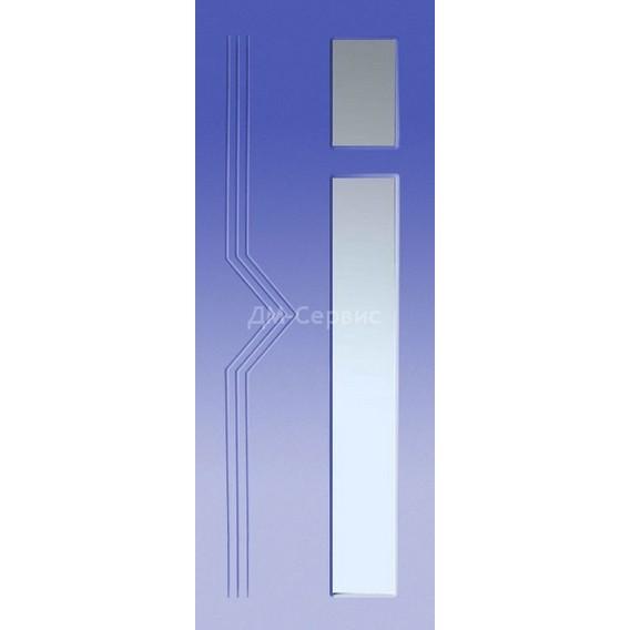Крашенная дверь премиум класса «Модерн» (под остекление)