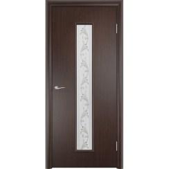 Межкомнатная ламинированная дверь «C-21 Х Вьюн» (со стеклом)