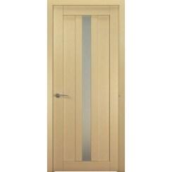 Межкомнатная шпонированная дверь «Ника-2 Белая» (со стеклом)