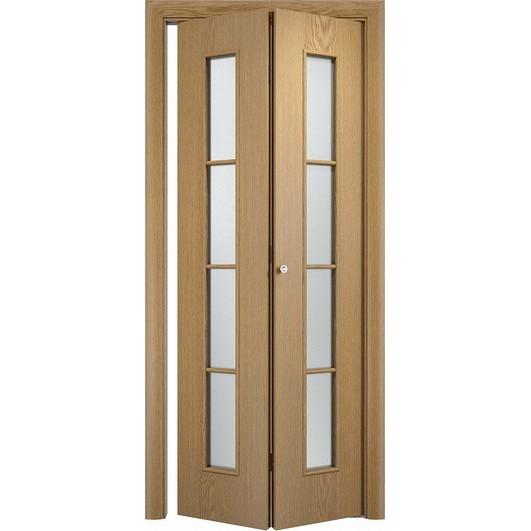 Складная дверь «книжка» C-14 ДО (со стеклом)