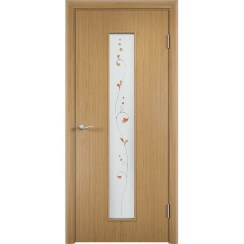 Межкомнатная дверь «C-21 Х Амелия», шпон fine-line (со стеклом)