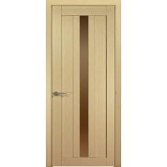 Межкомнатная шпонированная дверь «Ника-2 Бронза» (со стеклом)