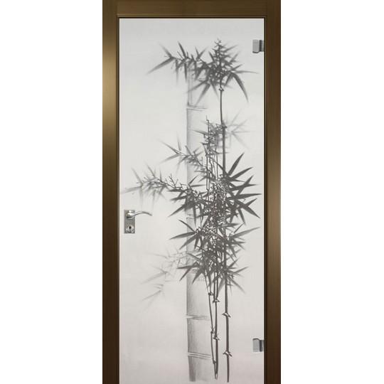 Межкомнатная стеклянная дверь «Бамбук»