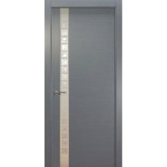 Межкомнатная шпонированная дверь «Concept L Белый» (со стеклом)