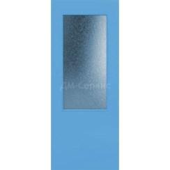 Крашенная дверь премиум класса «Гладкая» (под остекление)