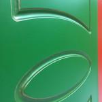 Зеленая дверь с патиной