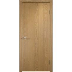 Строительная ламинированная дверь «ГЛП» (светлый дуб, глухая)