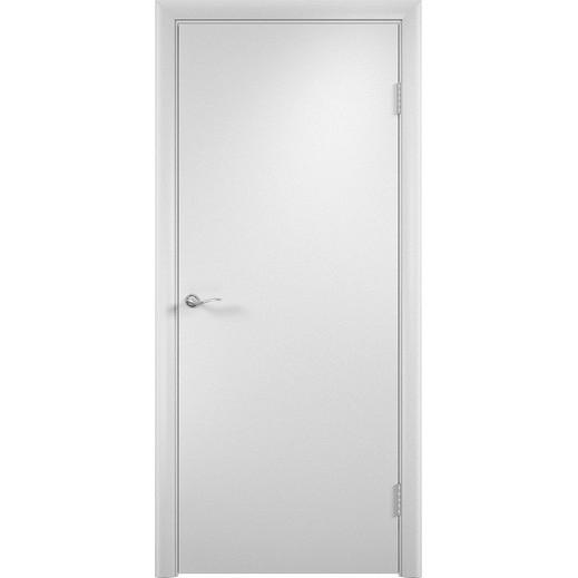 Строительная ламинированная дверь «ГЛП» (белая, глухая)
