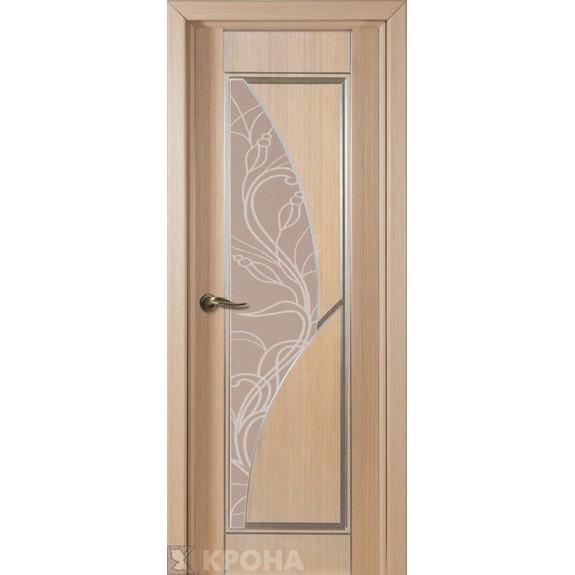 Межкомнатная дверь с натуральным шпоном «Сирена ДО» (со стеклом)