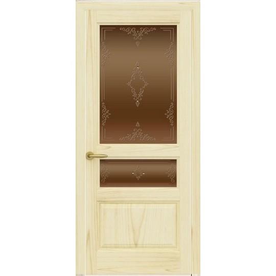 Дверь с натуральным шпоном «Марсель Бронза» (со стеклом)