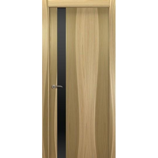 Межкомнатная шпонированная дверь «De Vesta L Черный» (со стеклом)