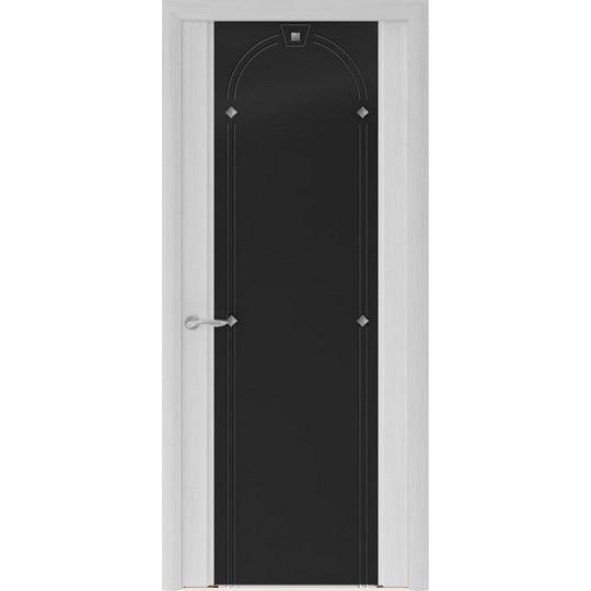 Межкомнатная шпонированная дверь «Murano-3 Черное» (со стеклом)