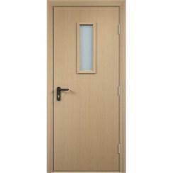 Строительная противопожарная дверь «ДПО» (беленый дуб, глухая)