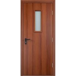 Строительная противопожарная дверь «ДПО» (итальянский орех, глухая)