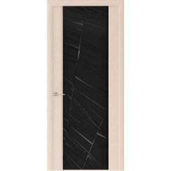 Межкомнатная шпонированная дверь «Capri-2 Черное» (со стеклом)