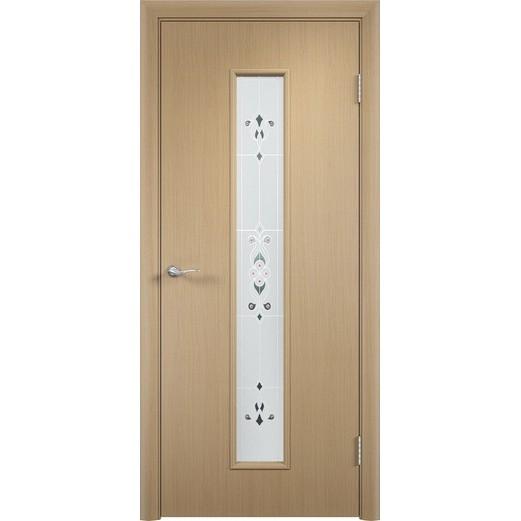 Межкомнатная ламинированная дверь «C-21 Х Барокко» (со стеклом)
