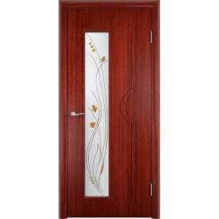 Межкомнатная дверь с натуральным шпоном «Модерн ДО» (со стеклом)