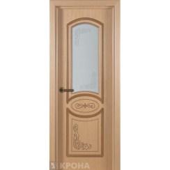 Межкомнатная дверь с натуральным шпоном «Муза ДО» (со стеклом)