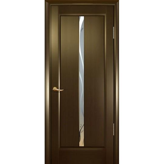 Межкомнатная шпонированная дверь «Новая волна (L)» (со стеклом)
