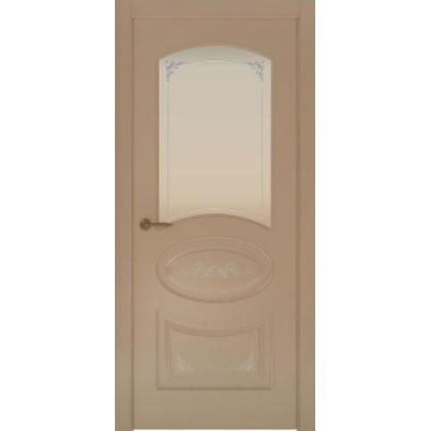 Межкомнатная дверь с эмалью «Flora 1 Белая» (со стеклом)