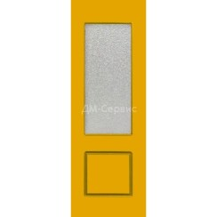 Крашенная дверь эконом класса «Марсель» (со стеклом)