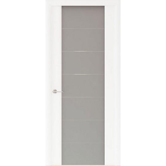 Межкомнатная шпонированная дверь «Capri-3 Матовое» (со стеклом)