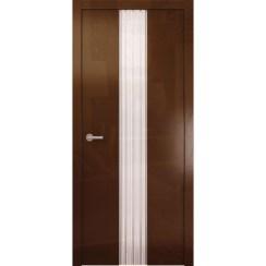 Межкомнатная глянцевая дверь «Avorio-3 Белое» (со стеклом)