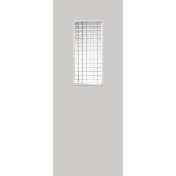 Строительная крашенная дверь Техно ПО (со стеклом)