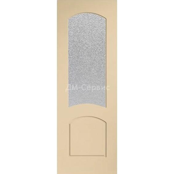 Крашенная дверь эконом класса «Наполеон» (со стеклом)