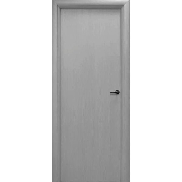 Межкомнатная дверь из вспененного ПВХ (глухая, титан)